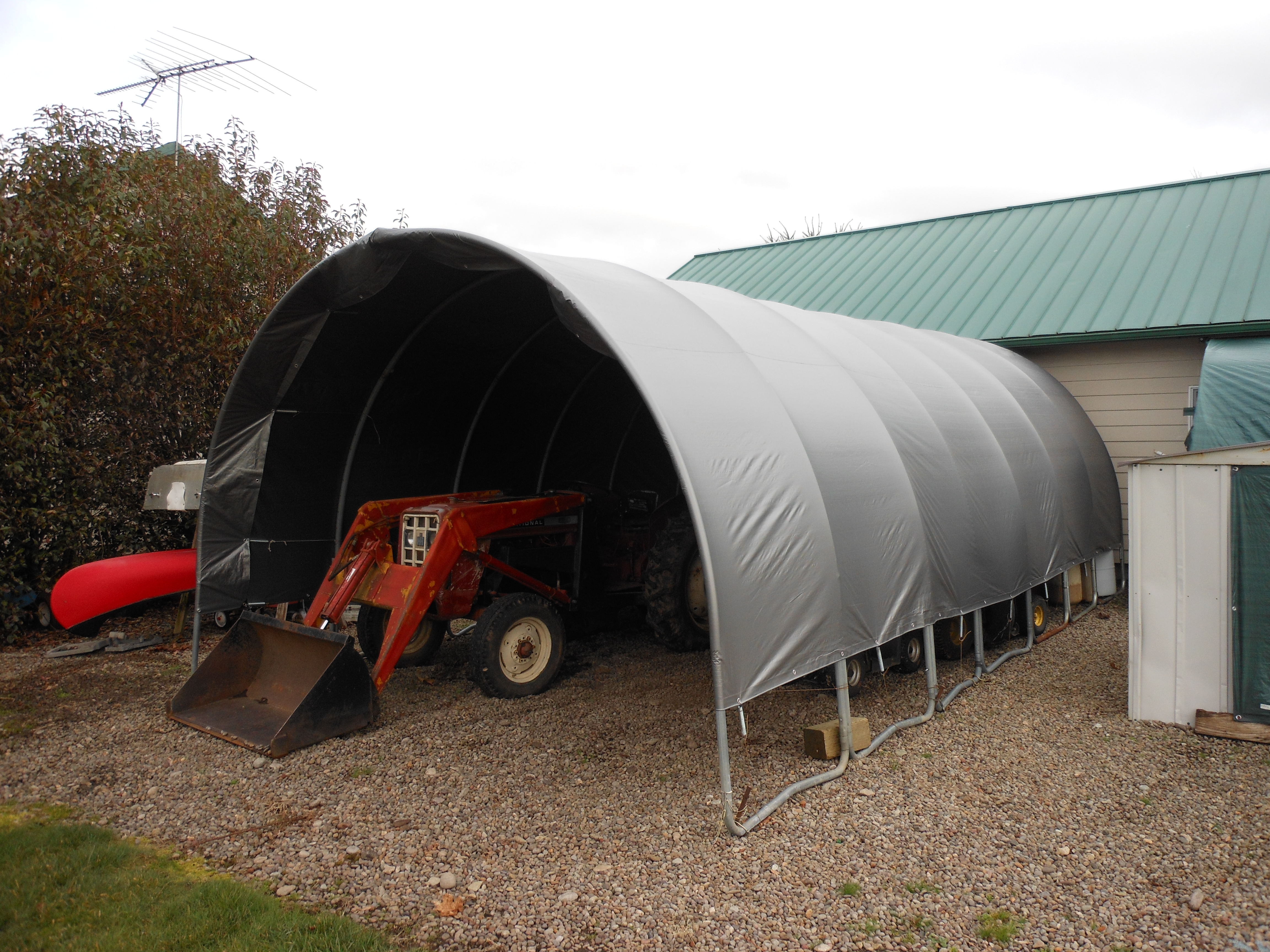 Farm Equipment Shelters : Trampoline equipment shelter homegrownengineer